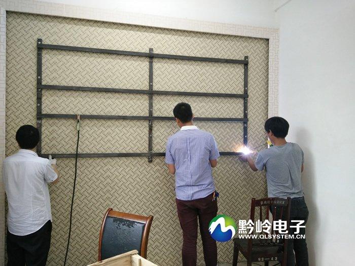 黔东南剑河县网格信息管理中心拼接屏项目顺利完工