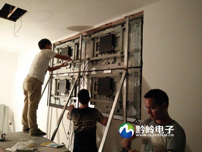 纳雍县气象局液晶拼接屏安装调试完毕