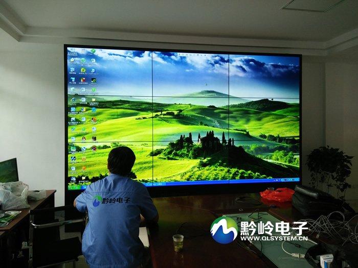 贵州普定县气象局55寸3x3拼接屏调试完毕