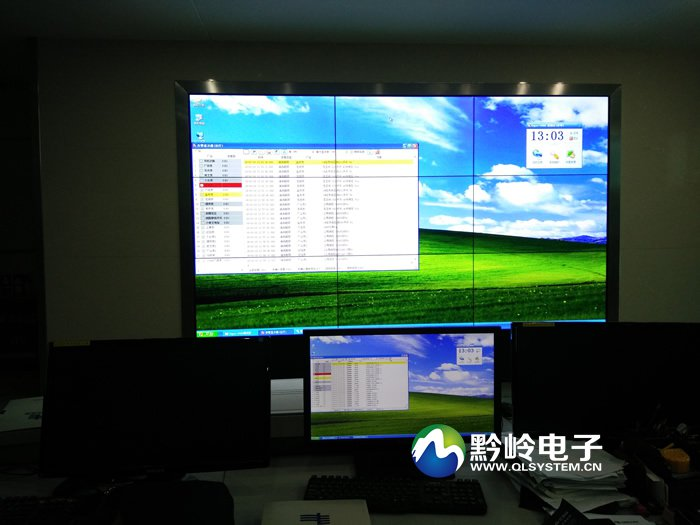 贵州电网修文县供电局监控中心3x3液晶拼接大屏项目案例